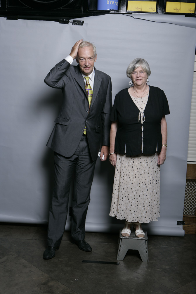 From - MPS QUESTION JOURNALISTS - John Snow and Ann Widdecombe, selected for the Taylor Wessing Portrait Prize 2010