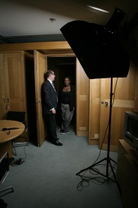 Diane Abbott and Nick Robinson (left) Emily Maitlis and William Hague (right)