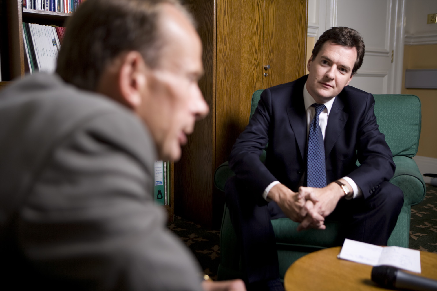 MP George Osbourne, quizzes Journalist Andrew Marr