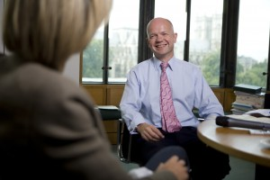 BBC Journalist Emily Maitlis is quizzed by MP William Hague