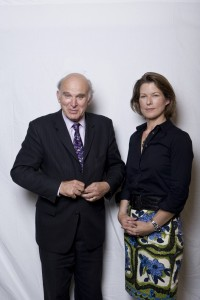MP Vince Cable and Journalist Stephanie Flanders