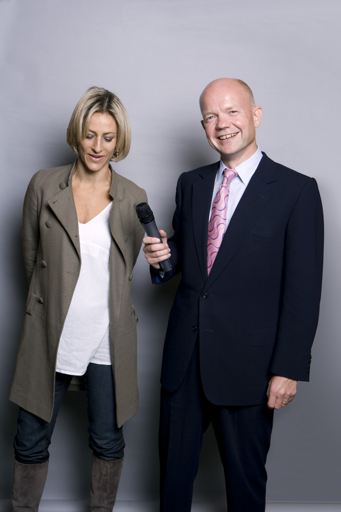 Emily Maitlis and William Hague