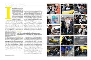 Tear sheets from Car Magazine's feature