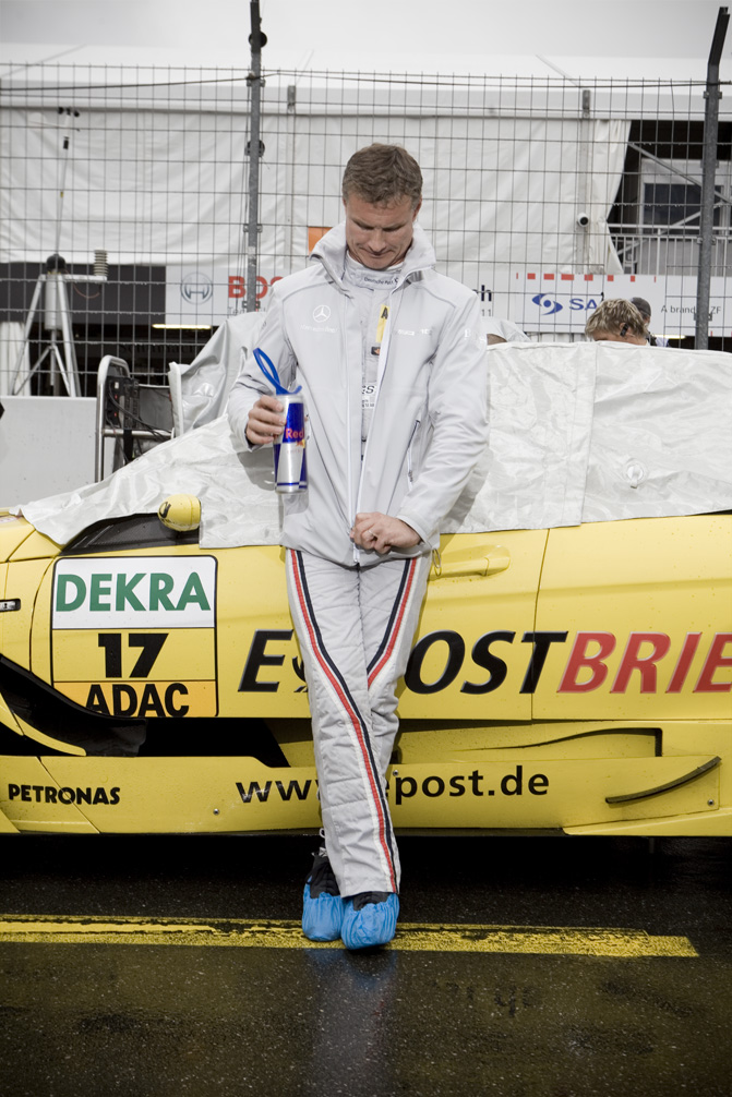 David Coulthard racing in the DTM series in Germany