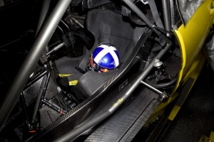 David Coulthards helmet inside his DTM car