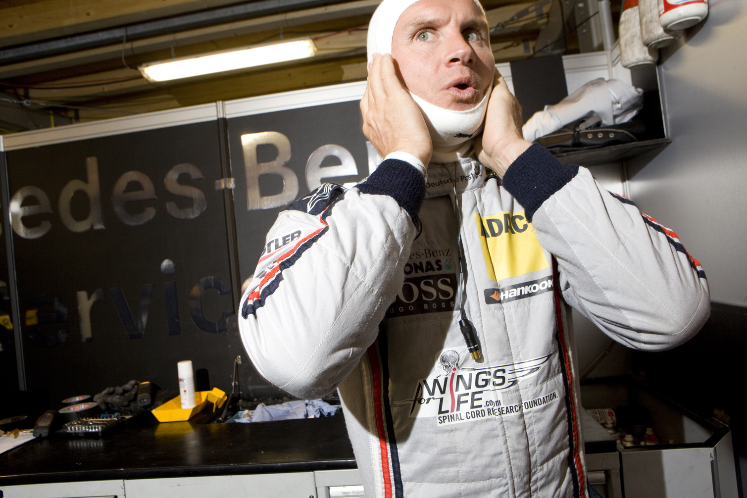 David Coulthard prepares for racing at the DTM series in Germany