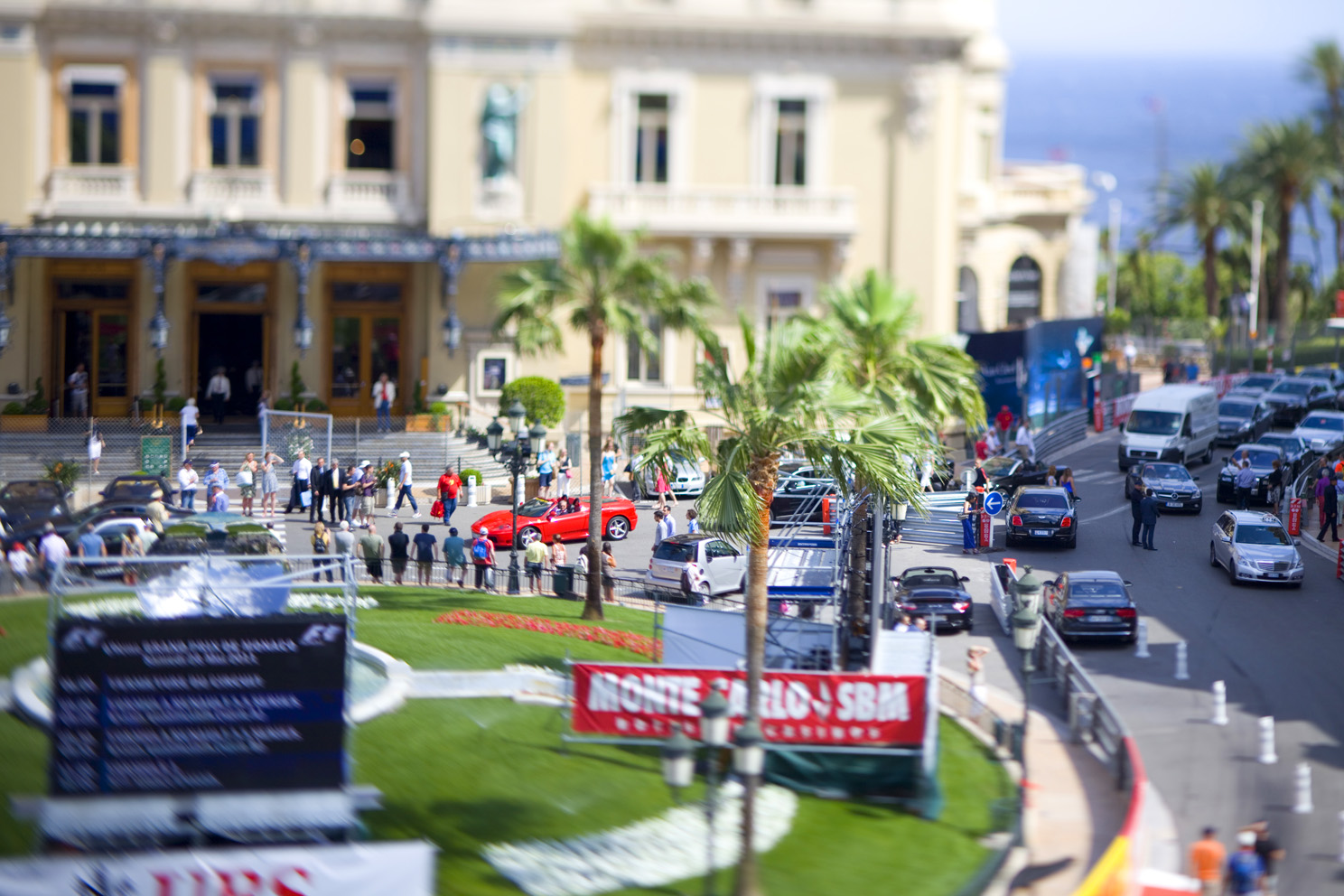 Tilt shift photographs taken around Monaco while filming video during the Grand Prix