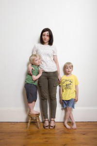Beauty writer Sali Hughes and son's Marvin and Arthur