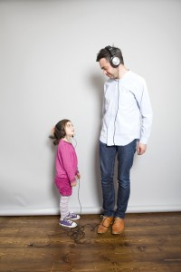 Music critic Alexis Petridis and daughter Esme