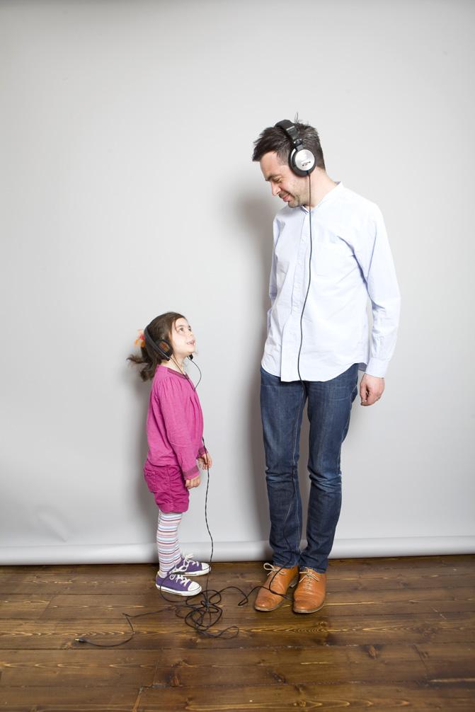 Music critic Alexis Petridis and daughter Esme