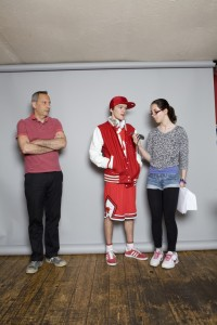 Interviewer Simon Hattenstone and daughter Maya