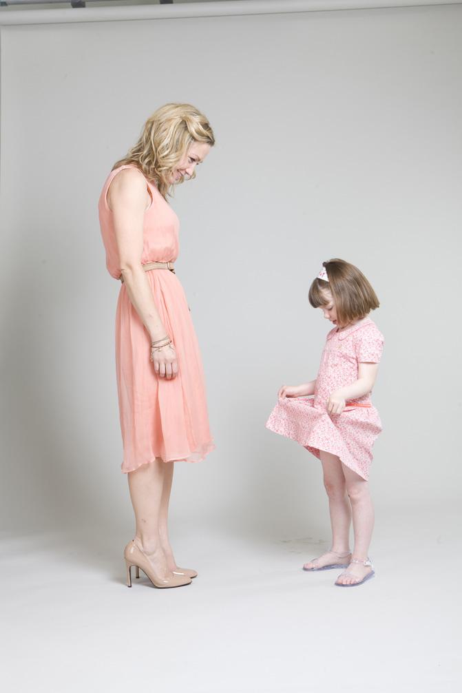 Fashion editor Jess Cartner-Morley and daughter Pearl