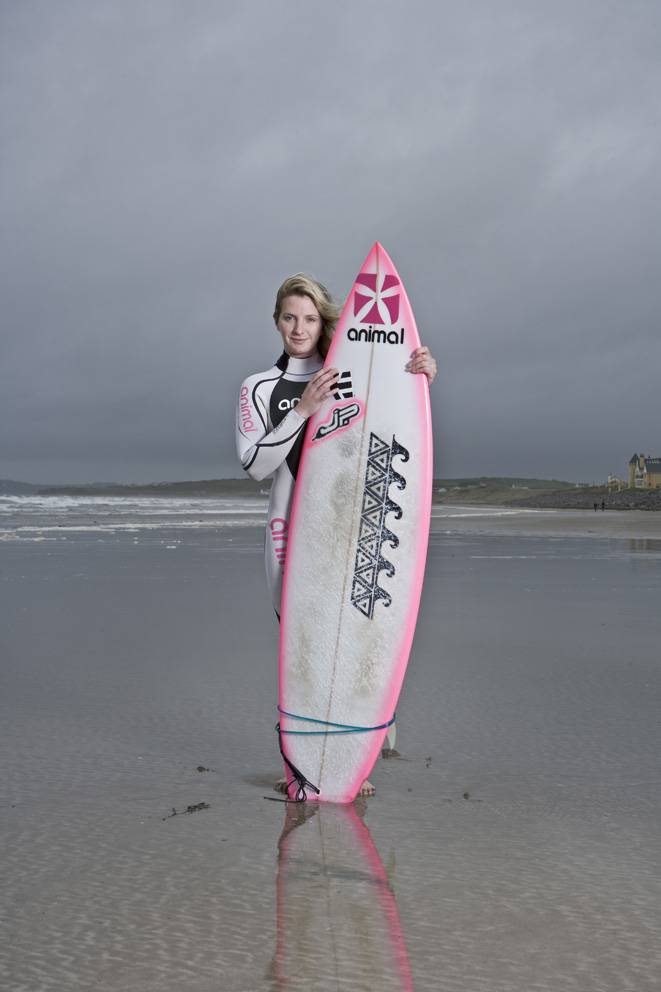 Irish based, Pro Surfer. Shot for the Red Bulletin.