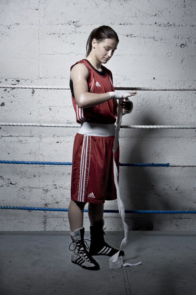 From - KATIE TAYLOR - Olympic Champion and boxing superstar, shot at her dads gym in Bray