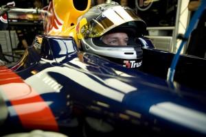 Sebastian Vettel sits and waits