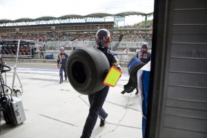 Sebastian Vettels pit crew