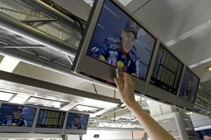 Press recording Vettel post race interview