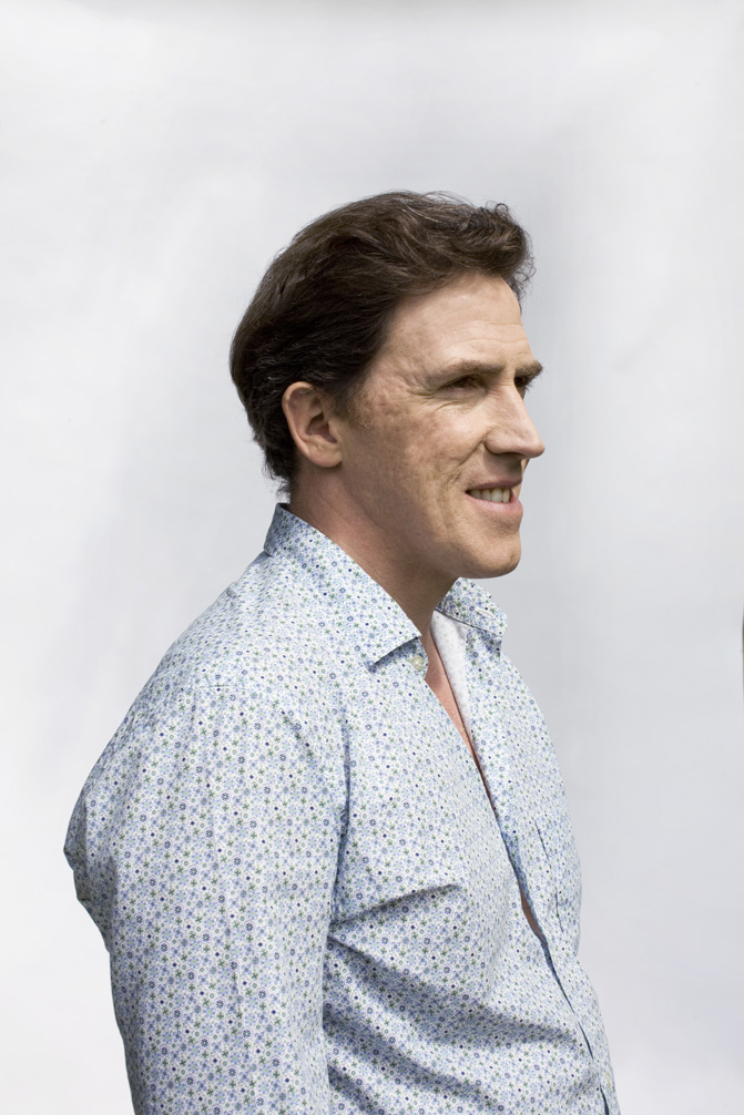 Actor, Comedian and Writer, Rob Brydon. Shot for the Guardian Weekend Magazine.