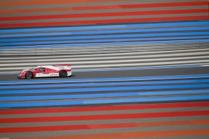 Toyota's first official test of the new World Endurance Hybrid Car, Paul Ricard.