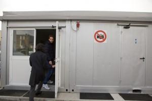 Jean Eric Vergne arrives at his new job