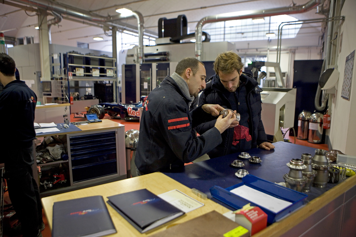 Toro Rosso new boy is shown around the factory in Faenza