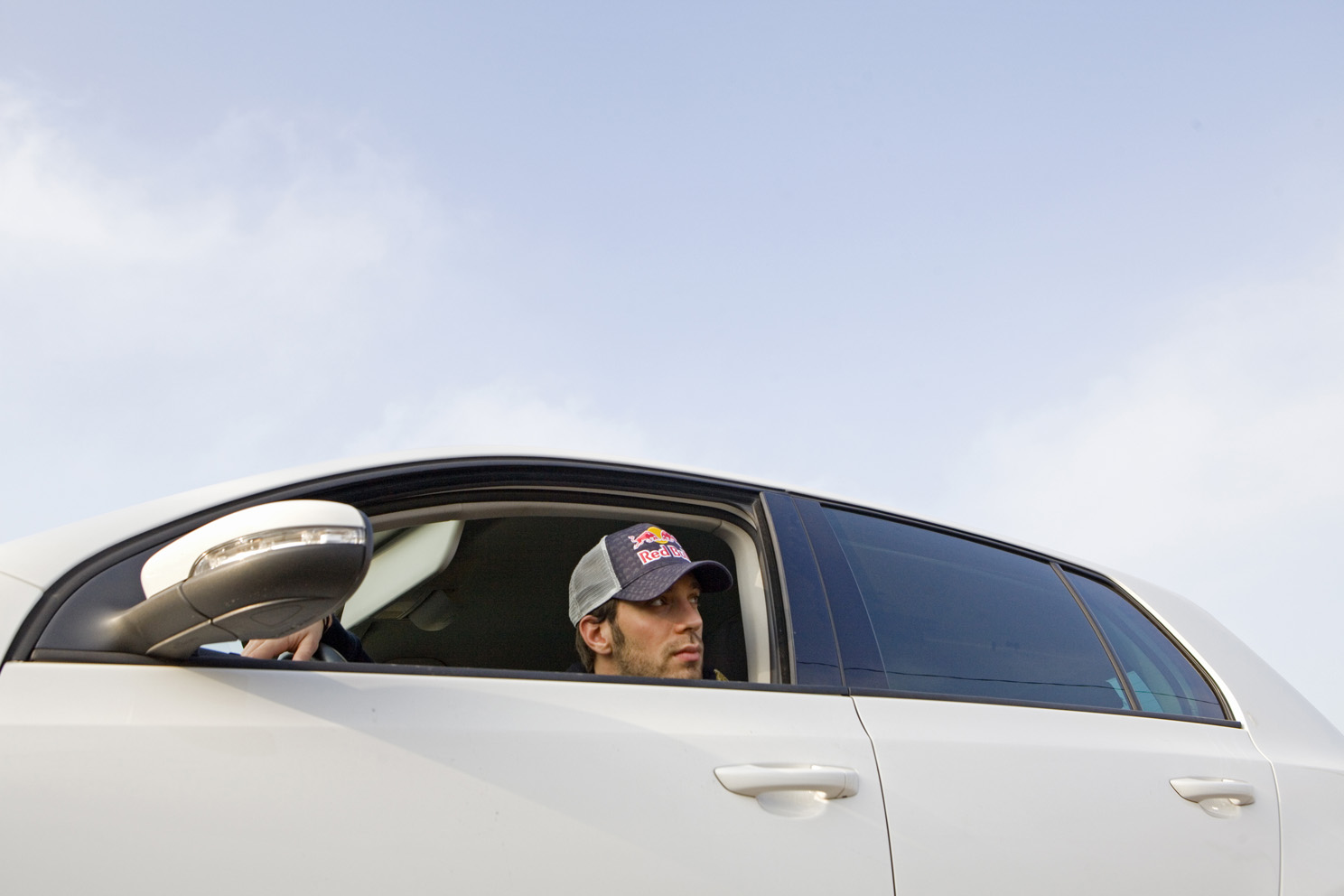 Jean-Eric Vergne driving through the outskirts of Faenza, Italy.