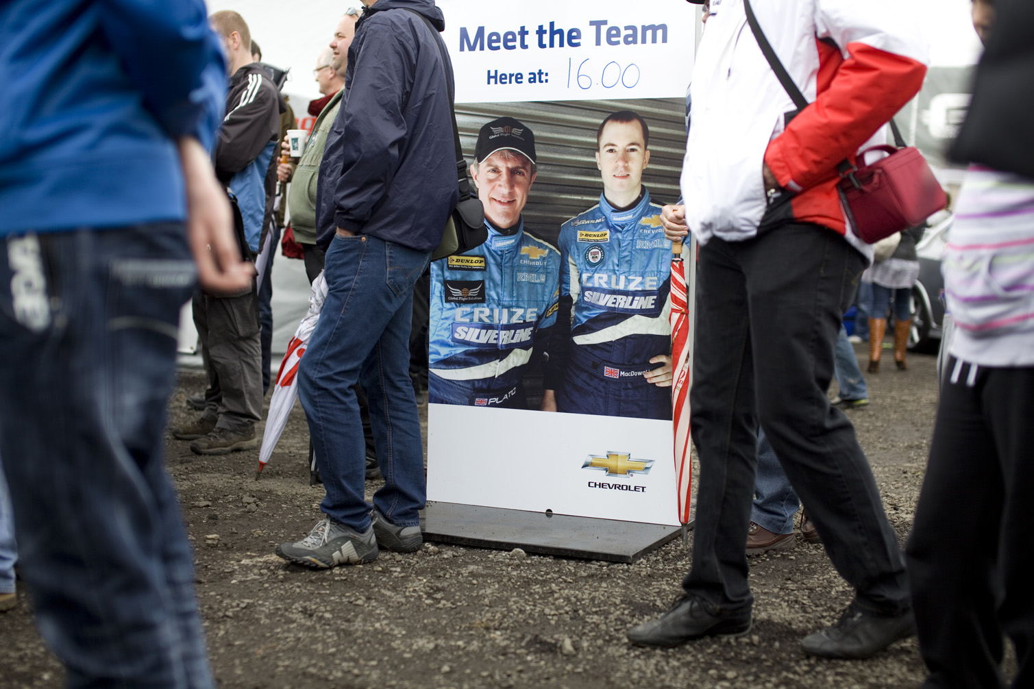 Poster for Q&A's with the fans at Croft.