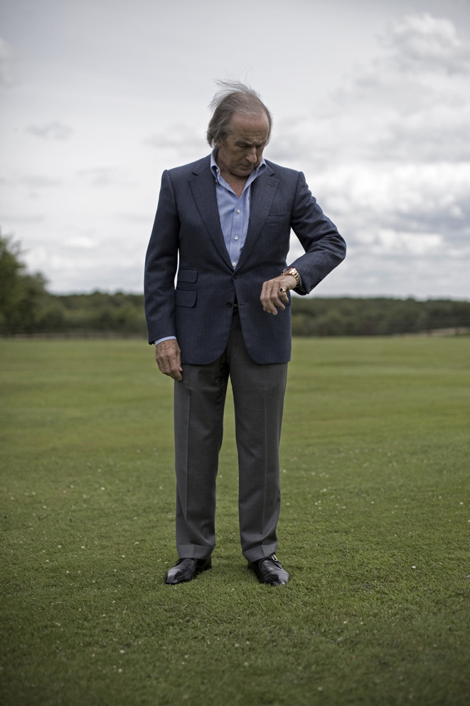 From - JACKIE STEWART - The 3 times F1 world champion, shot at home
