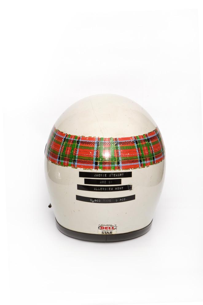 Jackie Stewart's orignal crash helmet