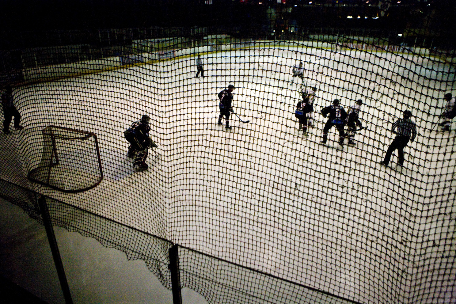 Game day at Planet Ice, watching the Milton Keynes Lightning Ice-Hockey team.