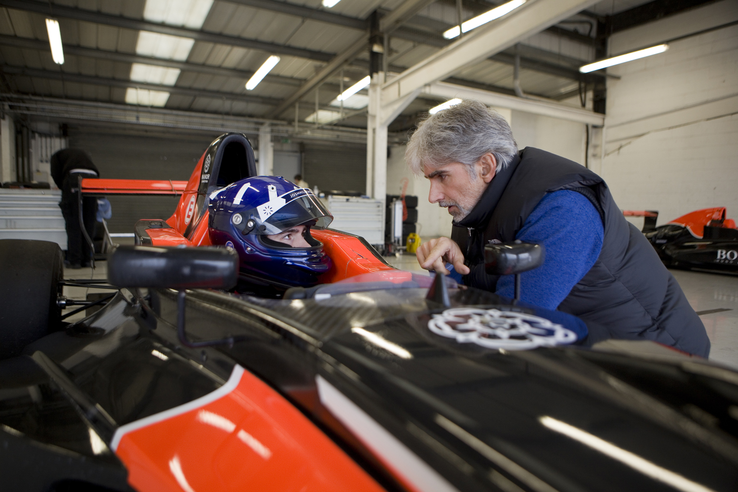 Ex Formula One World Champion Damon Hill, and racing driving son Josh.