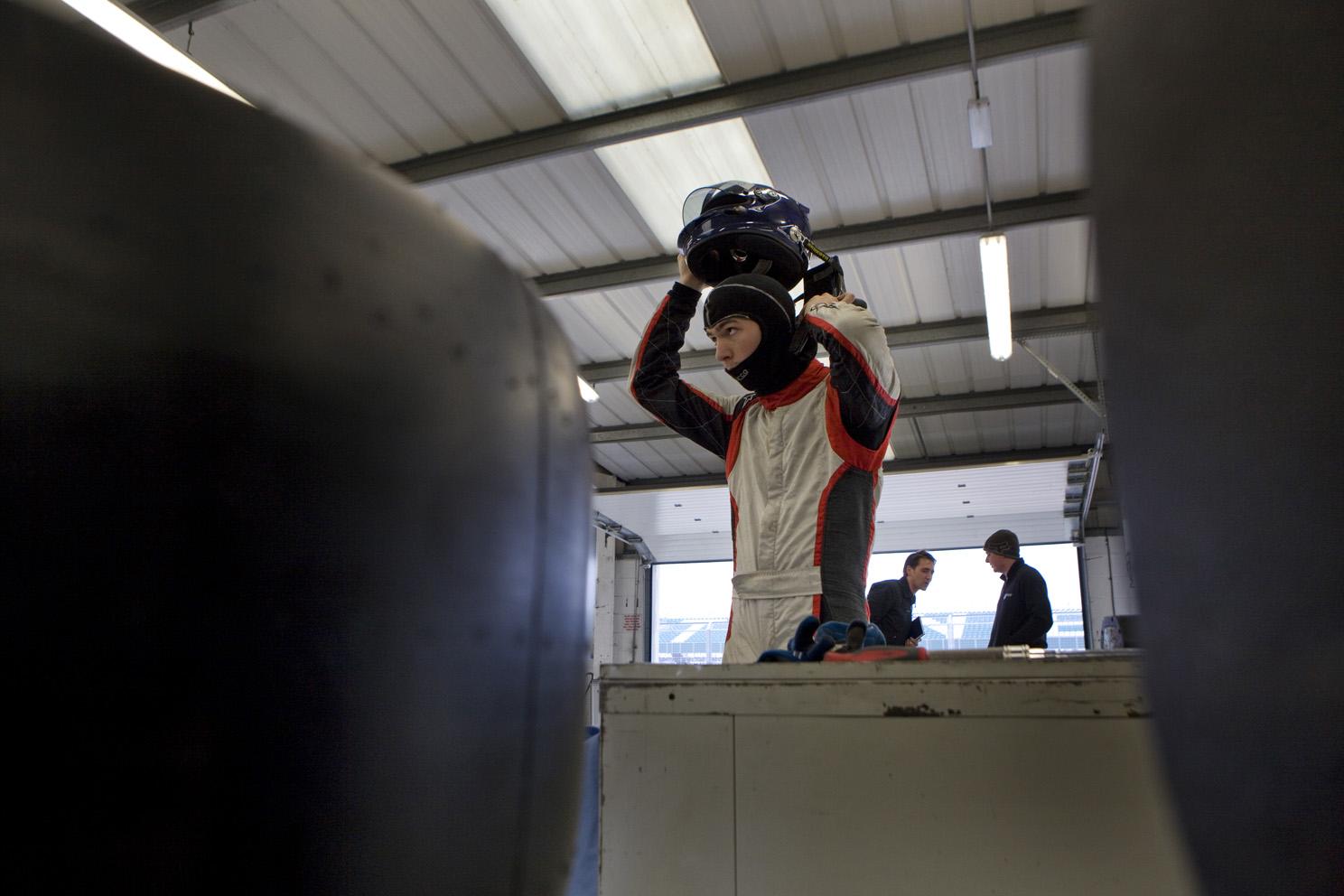 Ex Formula One World Champion Damon Hill, and racing driving son Josh.