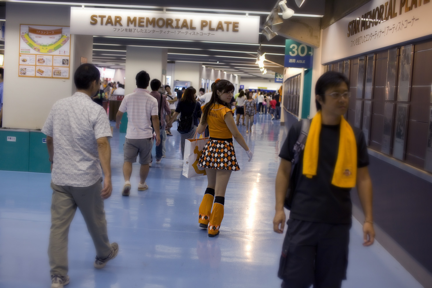 A vending girl at the Tokyo Dome