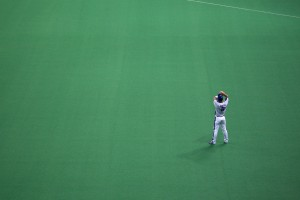 Fielder waits for action