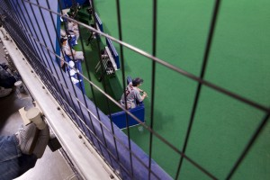The Yomiuri Giants bench