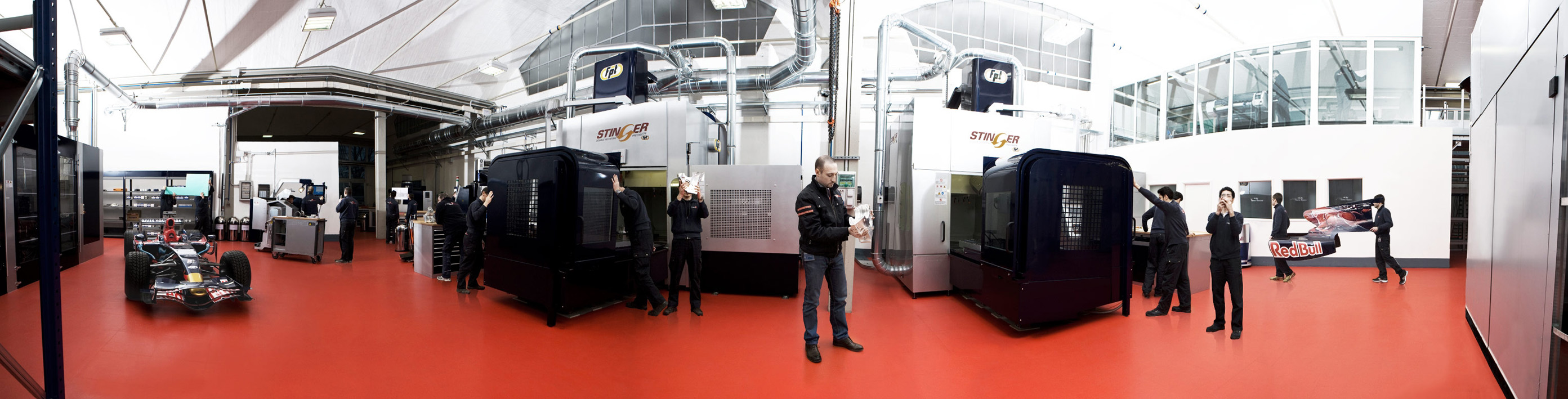 STR online interactive press pack, machine shop panorama