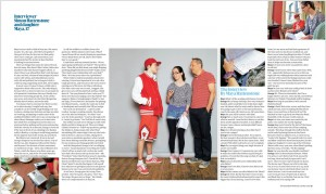 Tear sheet from the Guardian Weekend