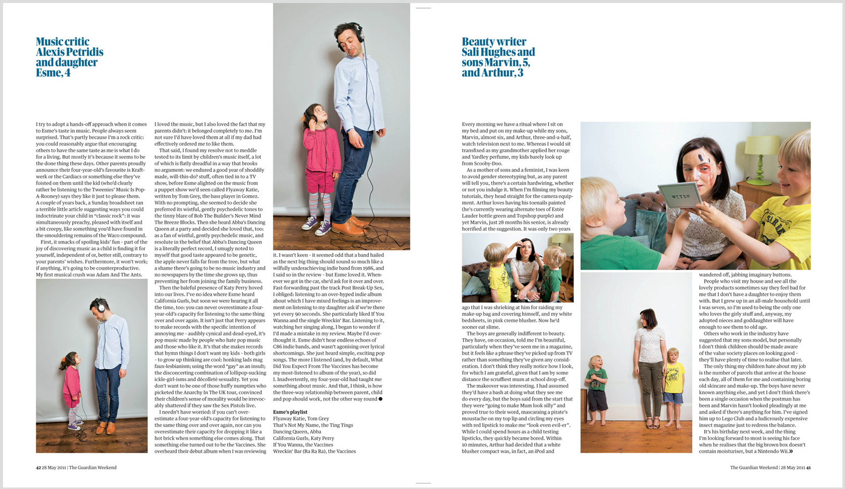 Tear sheet from the Guardian Weekend