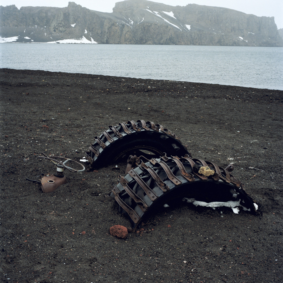 Remains of an old whaling station, destroyed by a volcanic eruption