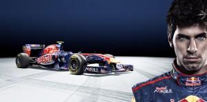 Formula One driver Jaime Alguersuari signature card for the Toro Rosso team