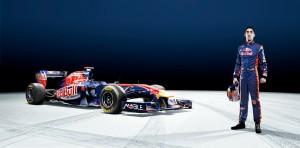 Formula One driver Sébastien Buemi signature card for the Toro Rosso team
