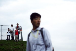 Fans on the hill at the Japanese Grand Prix