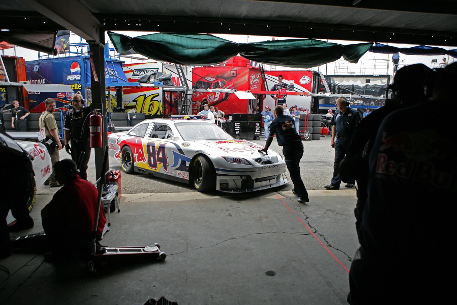 A. J. Allmendinger's Team Red Bull Car