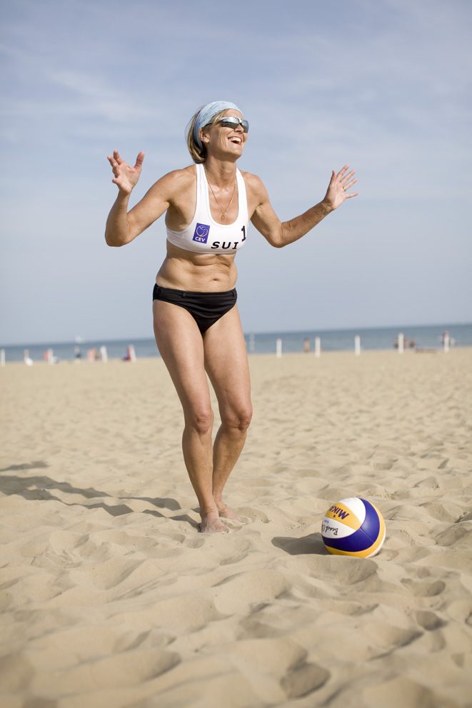 From - GAMES MASTERS - Helen Müller, beach volleyball player at the European Masters Games. Selected for the 2012 Talyor Wessing Portrait Prize.
