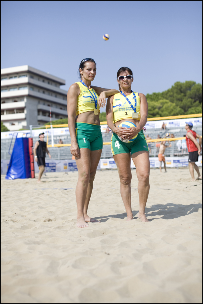 Helena Müller and Marianne Fullemann Piazza, Switzerland (left) Simone Deeke and Cynthia Bernstorff, Brazil (right) Beach Volley Ball