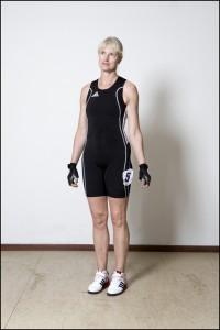 Lucinda Moore, Ireland, Weightlifting (left) Natalia Kryvych, Ukraine, Weightlifting (Right)
