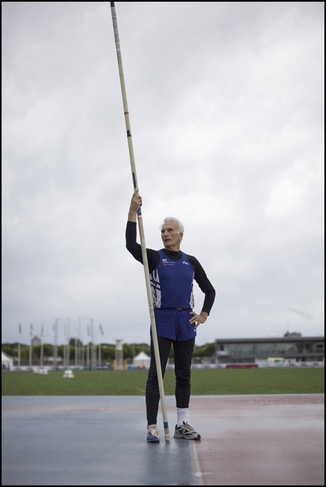 Mario Gaspari, aged 72 Italy, Pole Vault (left) Michele Tico, Italy, Pole Vault (right)