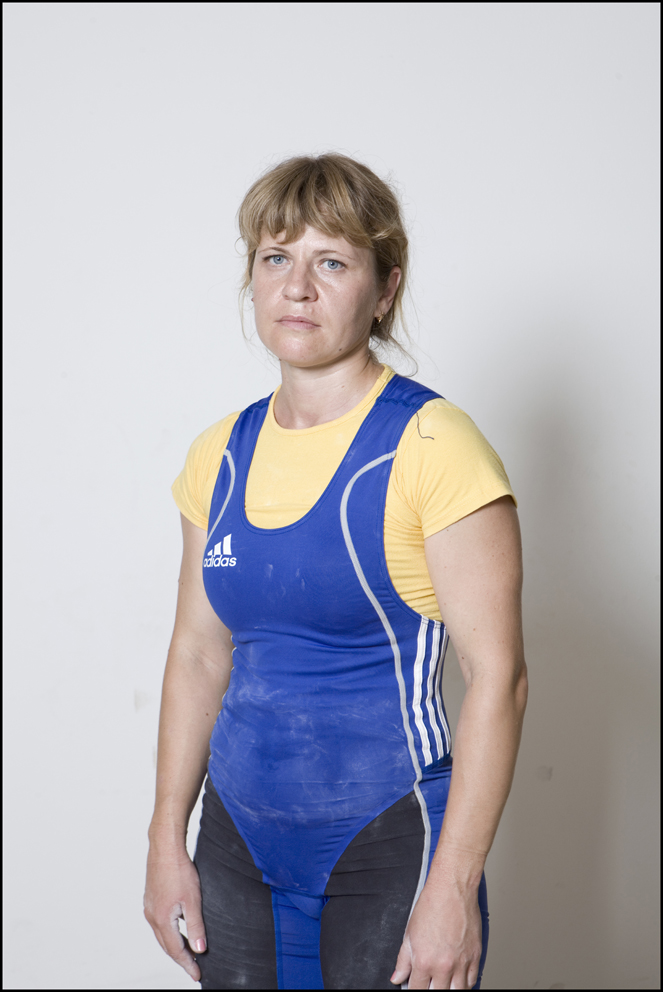 Lucinda Moore, Ireland, Weightlifting (left) Natalia Kryvych, Ukraine, Weightlifting (Right)