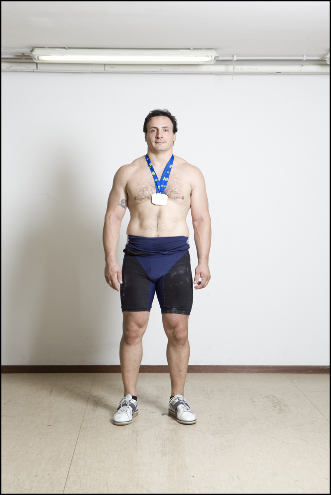 Andrea Rovatti, Italy, Weightlifting (left) Ewald Fisher, Austria, Weightlifting (right)