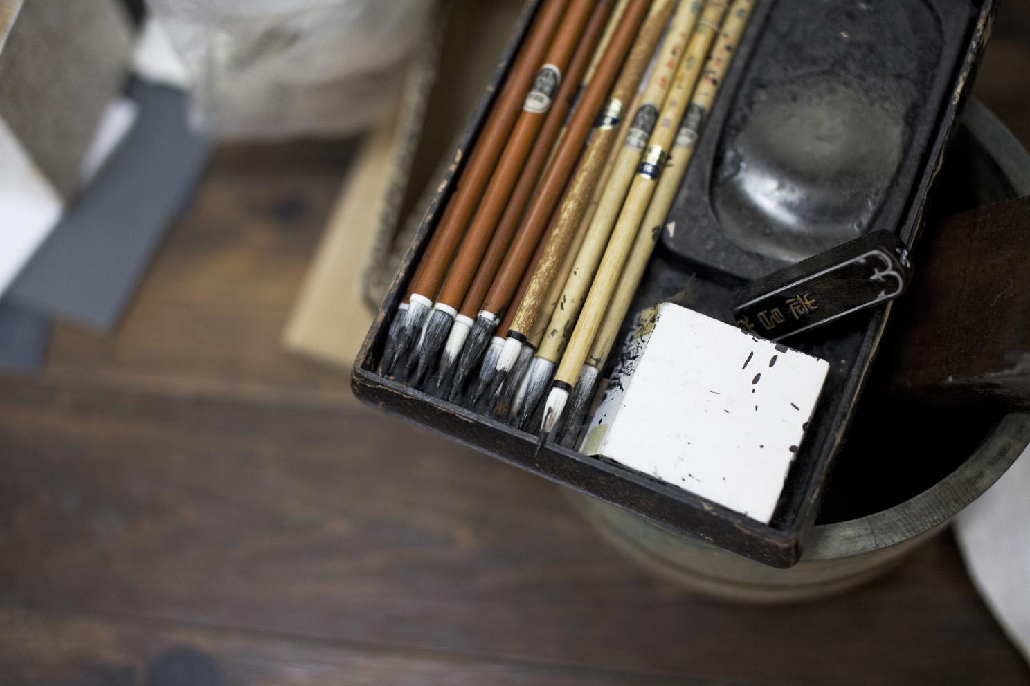 Tools belonging to Mr Ikeda